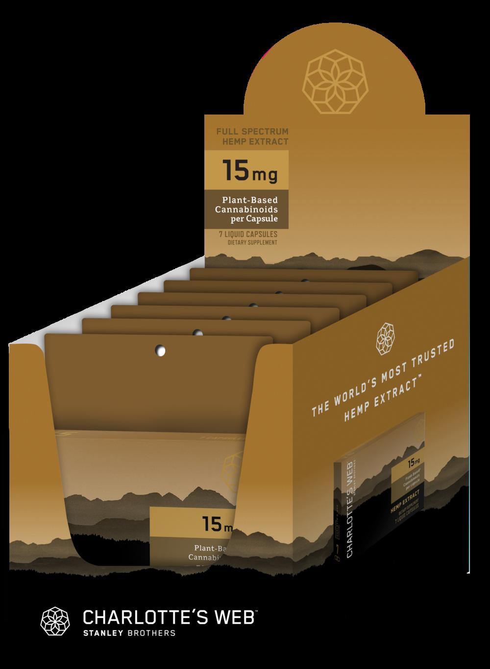 Charlotte's Web - CBD Capsules: 15mg - 7  Liquid Capsules per bag