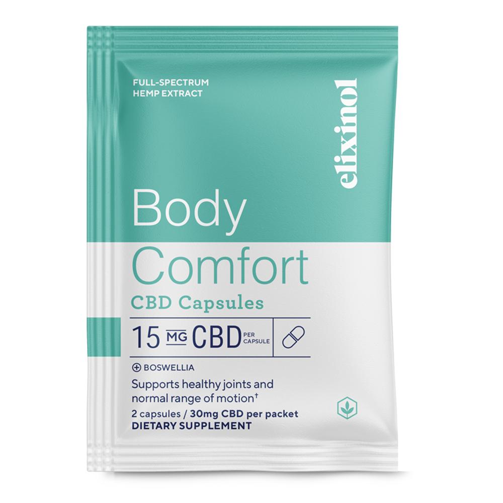 Elixinol Body Comfort CBD Capsules - 10 Pack/ 2 Count