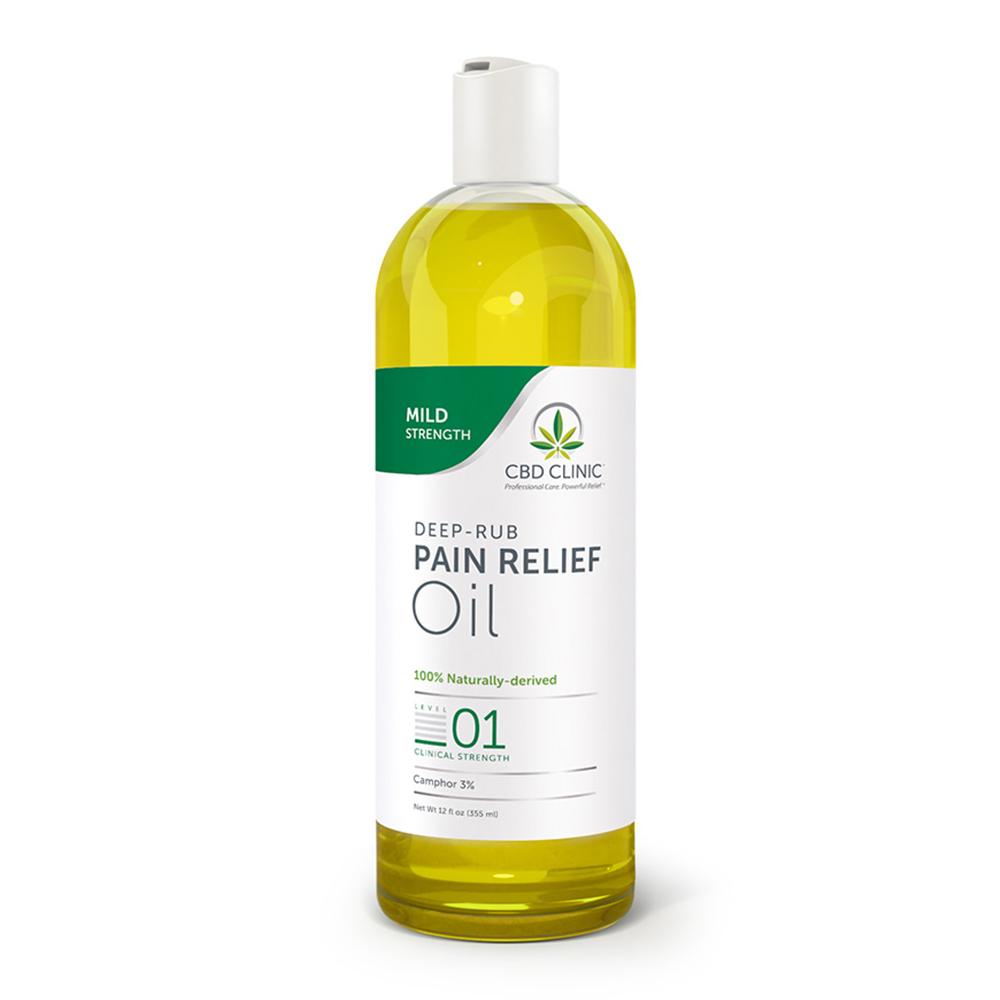 CBD Clinic - CBD Pain Relief Massage Oil: Level 1 - 12oz.