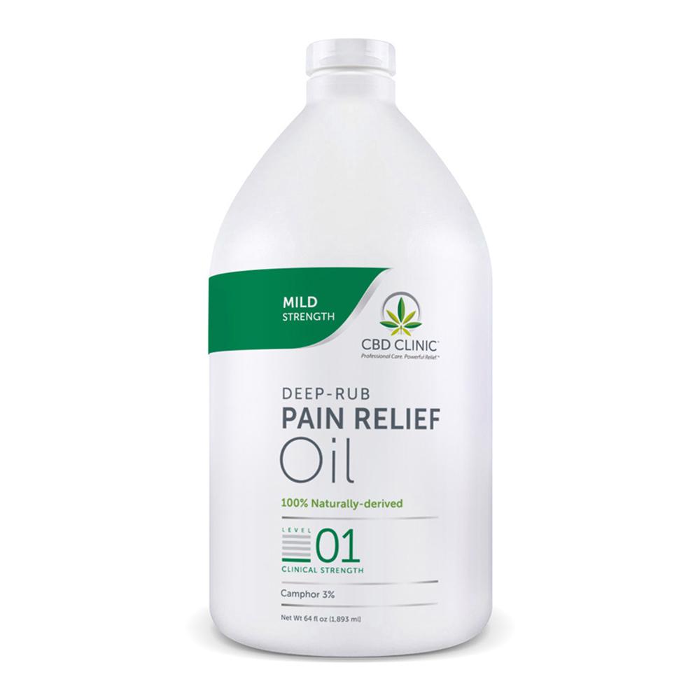 CBD Clinic - CBD Pain Relief Massage Oil: Level 1 - 64oz.