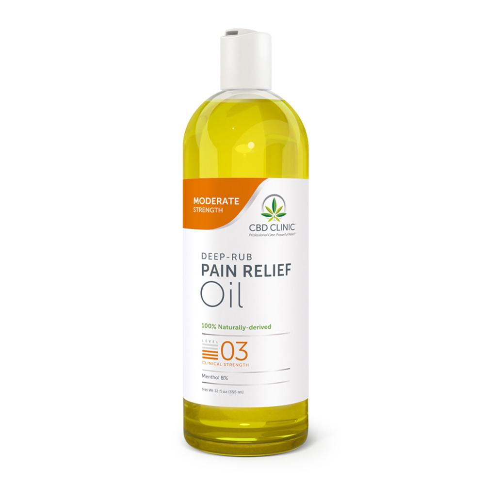 CBD Clinic - CBD Pain Relief Massage Oil: Level 3 - 12oz.