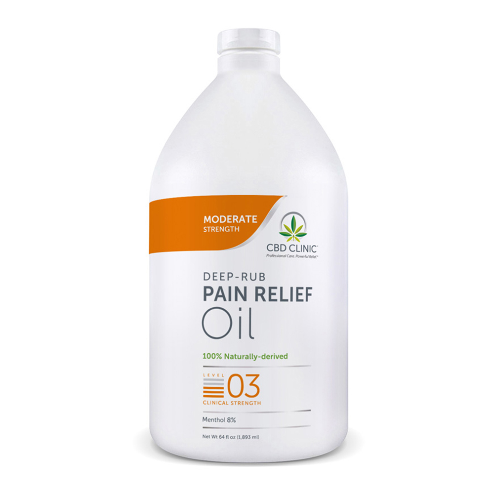 CBD Clinic - CBD Pain Relief Massage Oil: Level 3 - 64oz.