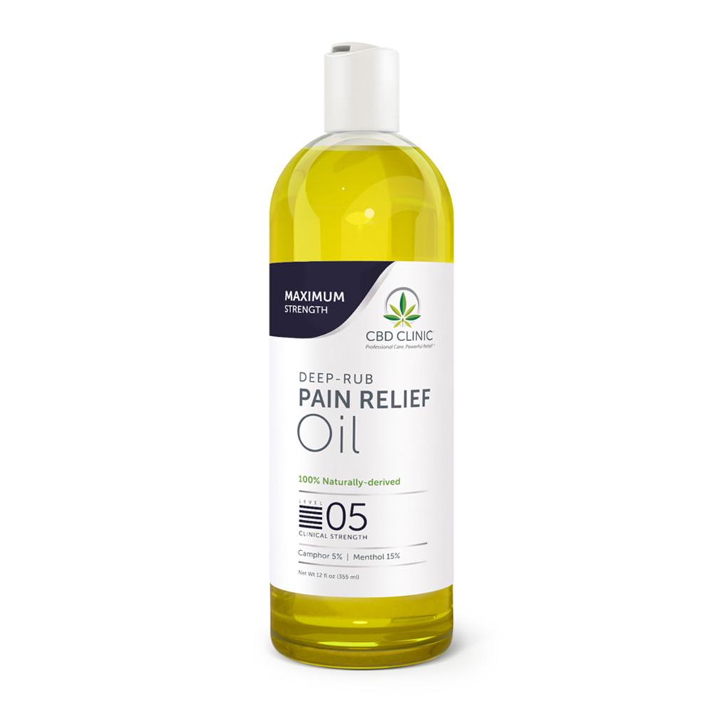 CBD Clinic - CBD Pain Relief Massage Oil: Level 5 - 12oz.