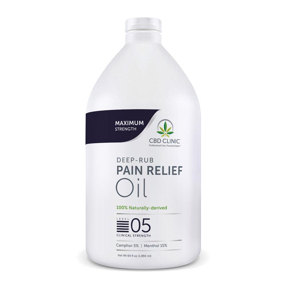 CBD Clinic - CBD Pain Relief Massage Oil: Level 5 - 64oz.