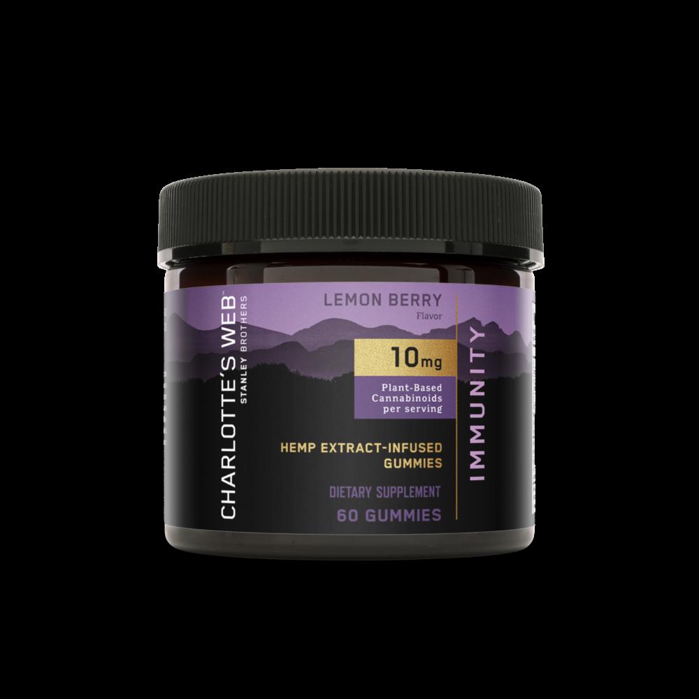 Charlotte's Web - CBD Gummies: 10mg - Immunity - Lemon Berry - 60 Count