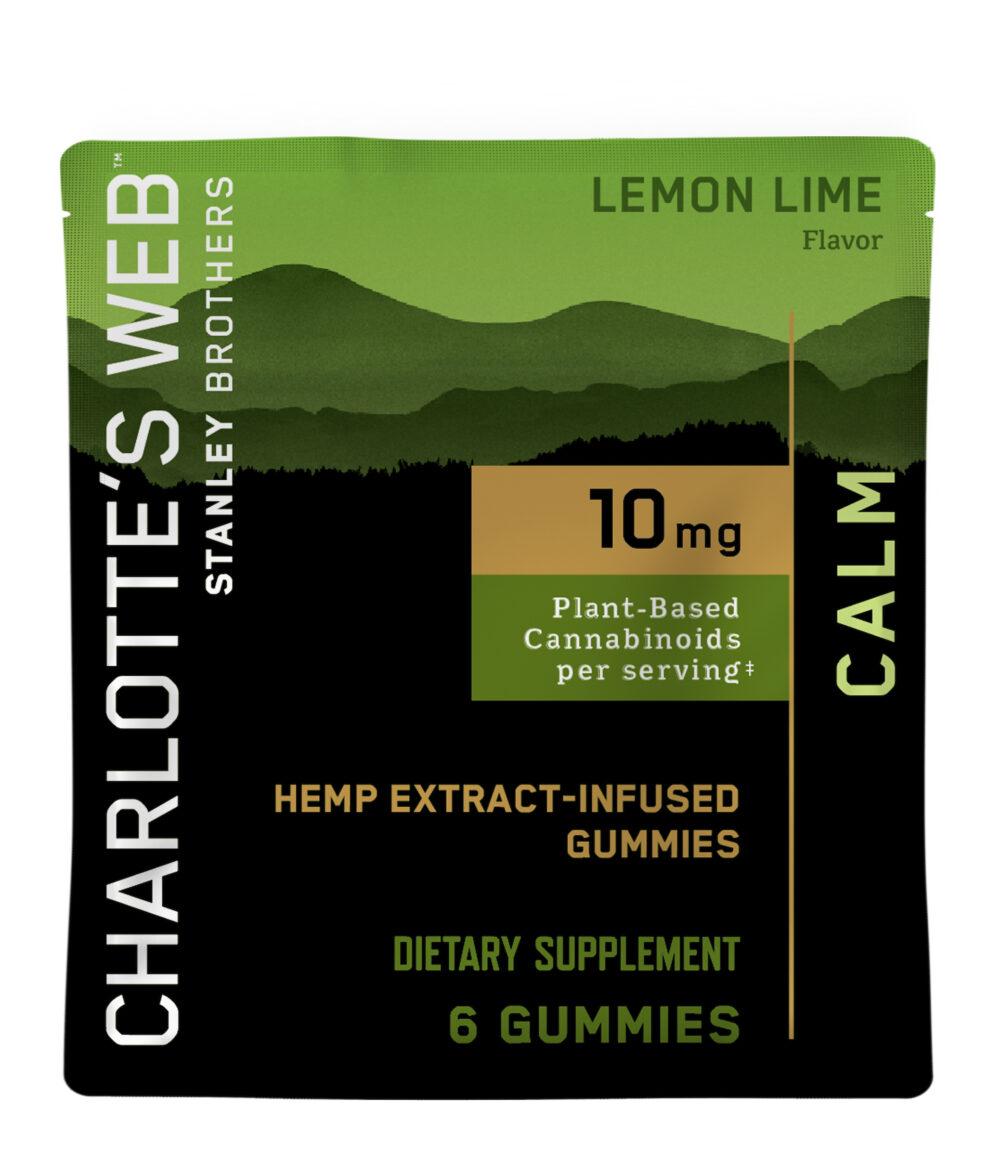 Charlotte's Web - CBD Gummies: 10mg - Calm - Lemon Lime - 6 Count