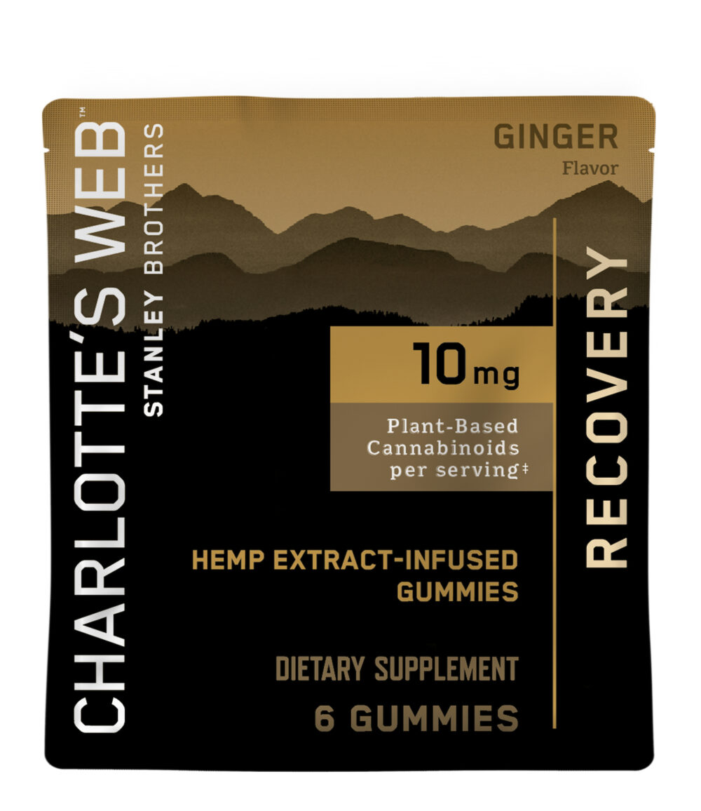 Charlotte's Web - CBD Gummies: 10mg - Recovery - Ginger - 6 Count