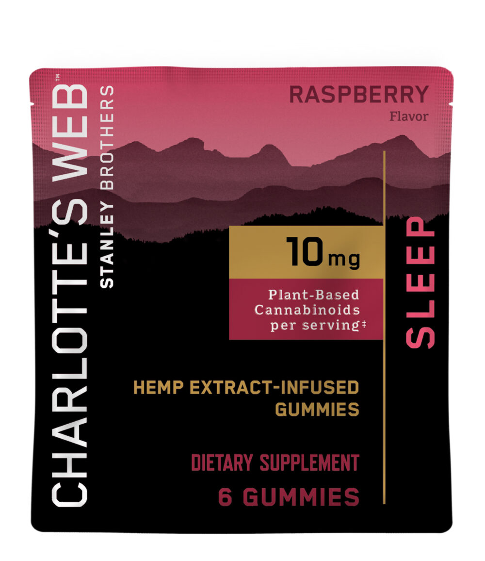 Charlotte's Web - CBD Gummies: 10mg - Sleep - Raspberry - 6 Count