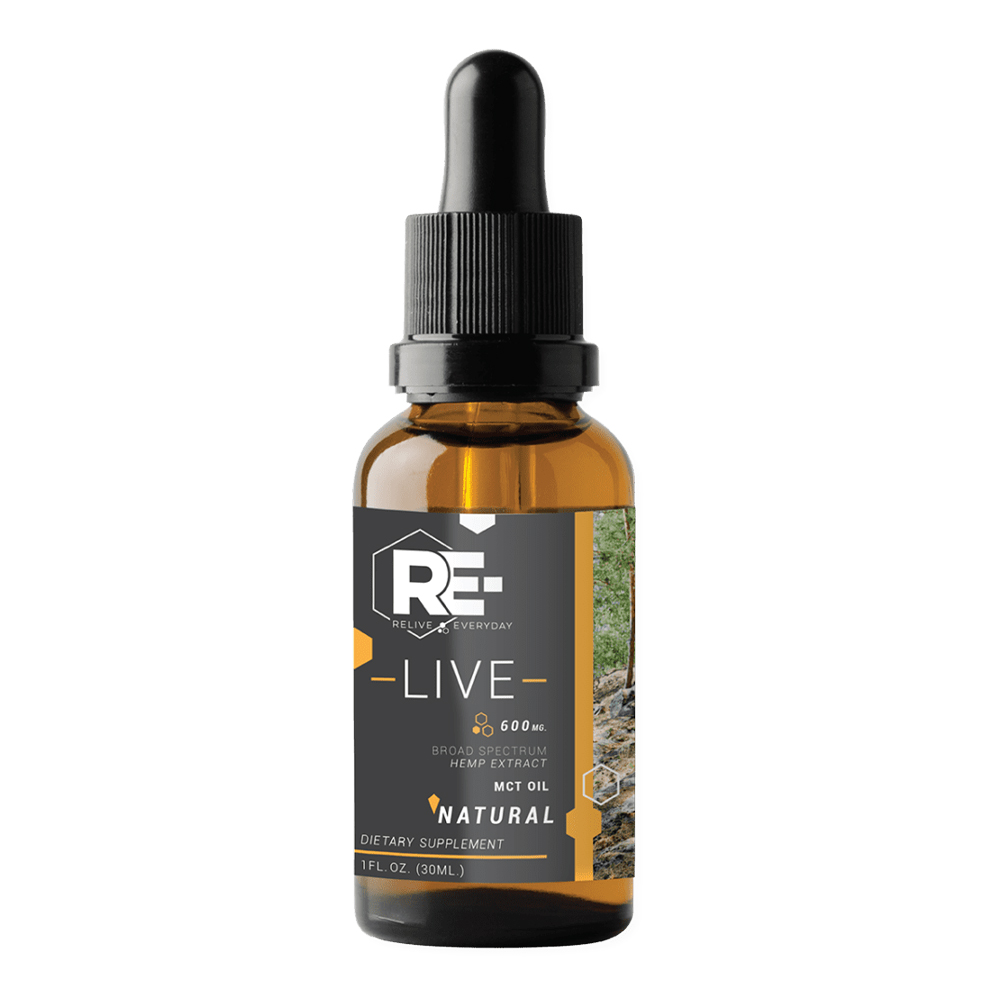 Relive Everyday - CBD Oil: 10mg - Natural