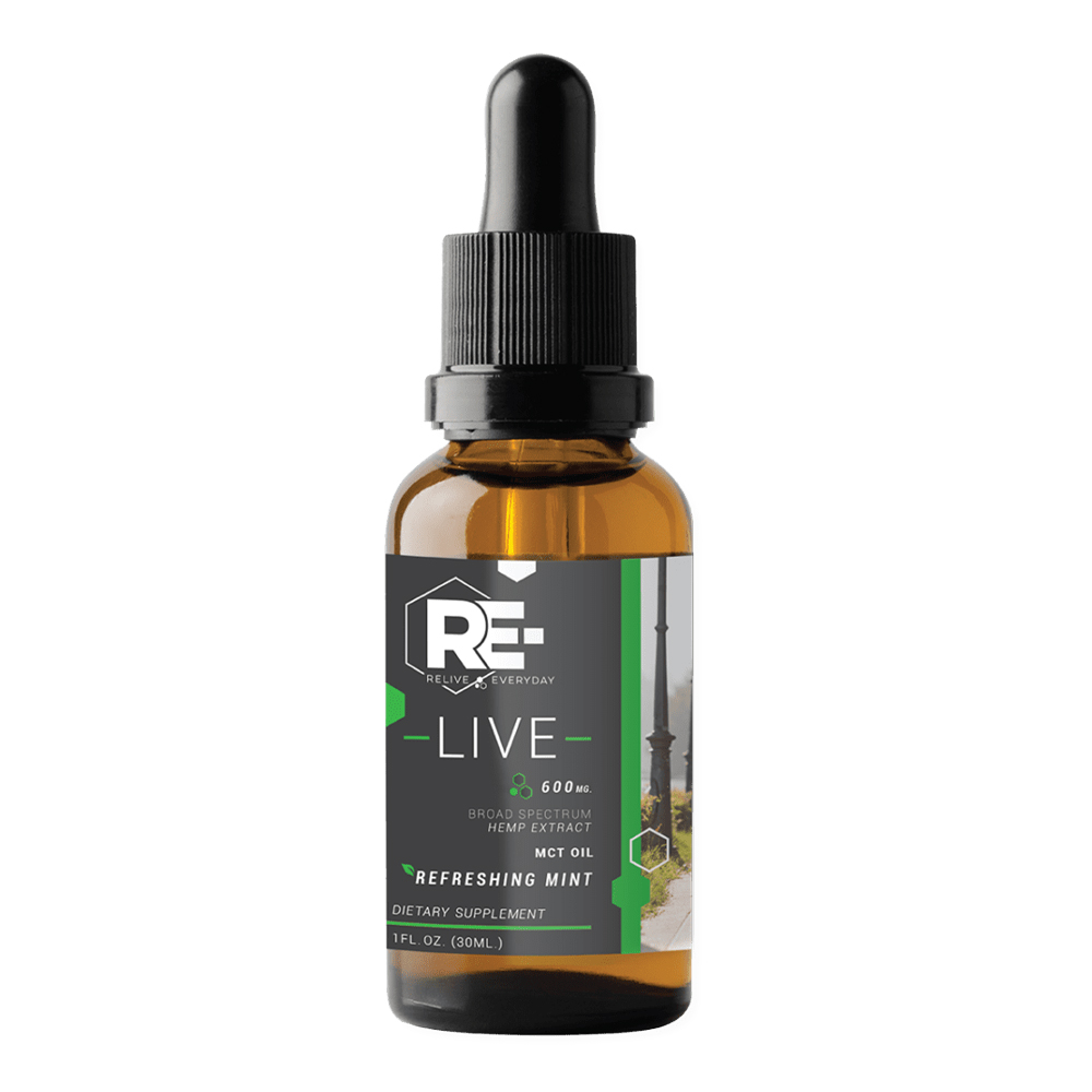 Relive Everyday - CBD Oil: 10mg - Refreshing Mint
